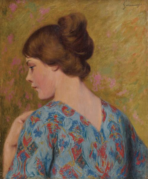Art Prints of Profile of a Young Woman by Federico Zandomeneghi