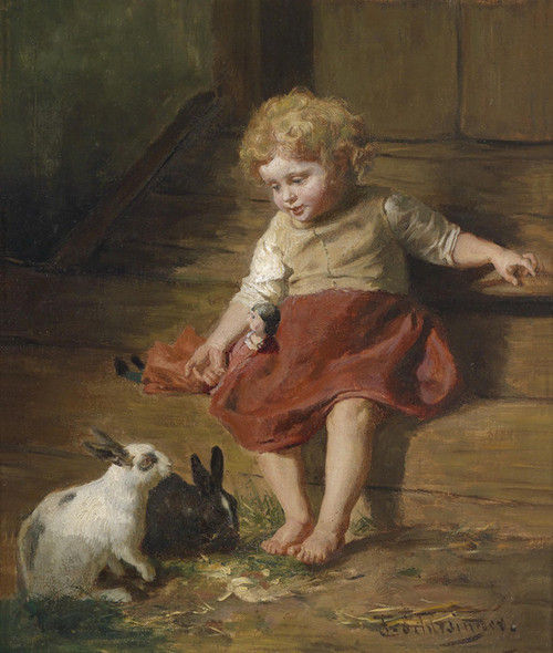 Art Prints of Forage for Bunnies by Felix Schlesinger