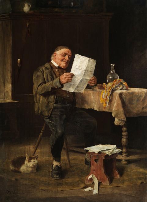 Art Prints of Reading the Newspaper by Felix Schlesinger