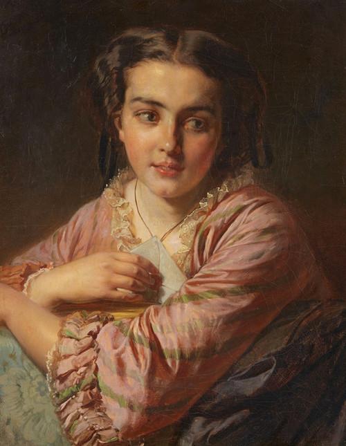 Art Prints of Portrait of a young Woman by Felix Schlesinger