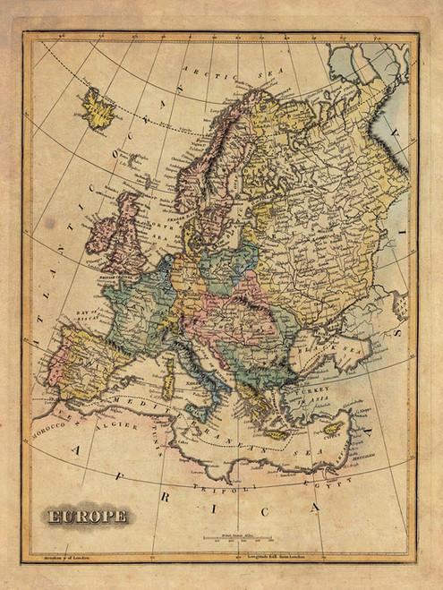 Art Prints of Europe, 1823 (4584013) by Fielding Lucas, Jr.