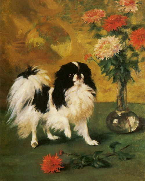 Art Prints of Lady Onslow's Japanese Chin Danski by Frances Fairman