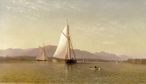 Art Prints of The Hudson at the Tappan Zee by Francis Augustus Silva