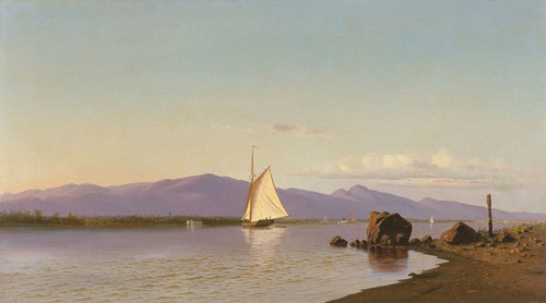 Art Prints of Kingston Point, Hudson River by Francis Augustus Silva