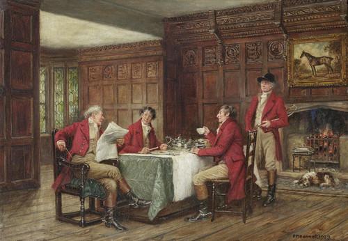 Art Prints of The Hunt Breakfast by Frank Moss Bennett