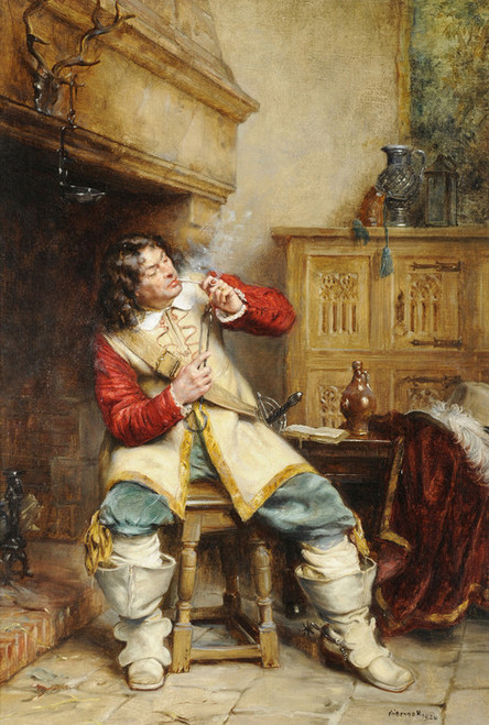 Art Prints of The Contented Cavalier by Frank Moss Bennett