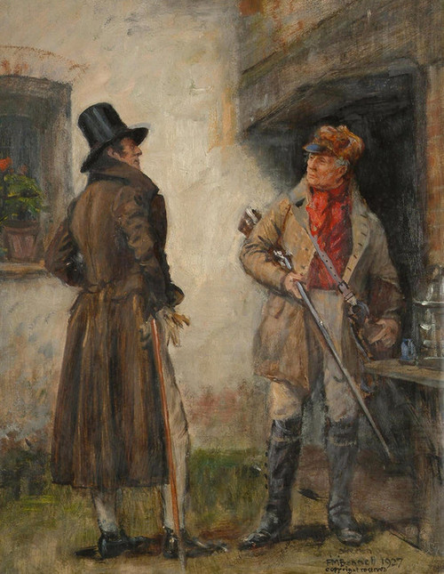 Art Prints of The Squire and the Keeper by Frank Moss Bennett