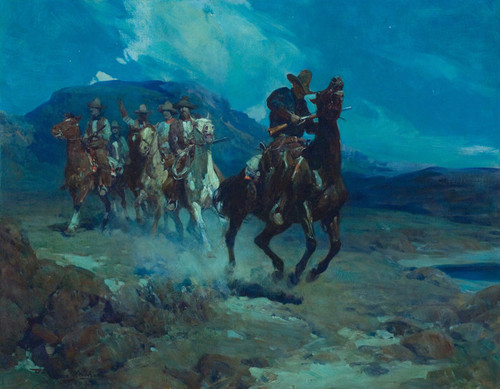Art Prints of The Sheriff's Posse by Frank Tenney Johnson