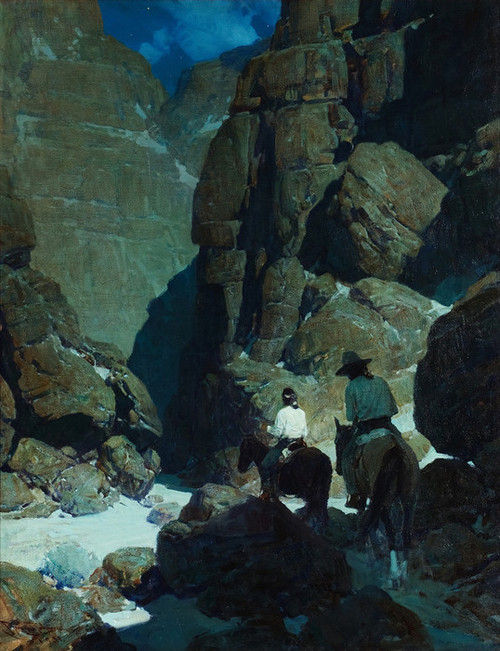 Art Prints of Moonlit Canyon by Frank Tenney Johnson