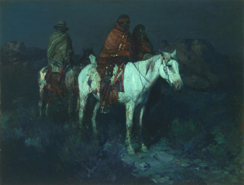 Art Prints of Sentinels in the Moonlight by Frank Tenney Johnson
