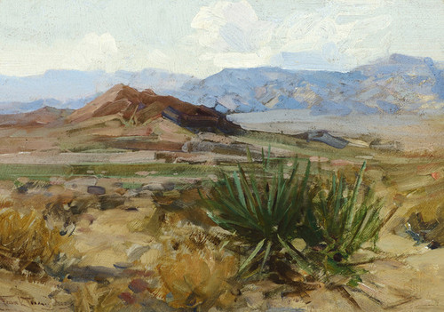 Art Prints of Gold Basin, Arizona by Frank Tenney Johnson