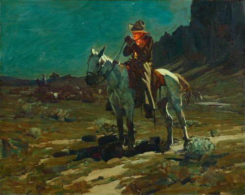 Art Prints of Night Time in Wyoming by Frank Tenney Johnson