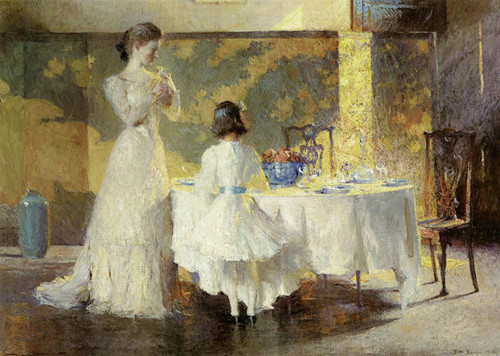 Art Prints of The Artist's Daughters in the Dining Room by Frank Weston Benson