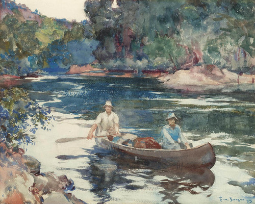 Art Prints of On the Water by Frank Weston Benson