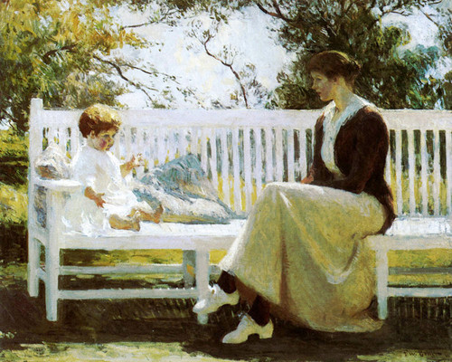 Art Prints of Mother and Child, Eleanor and Benny by Frank Weston Benson