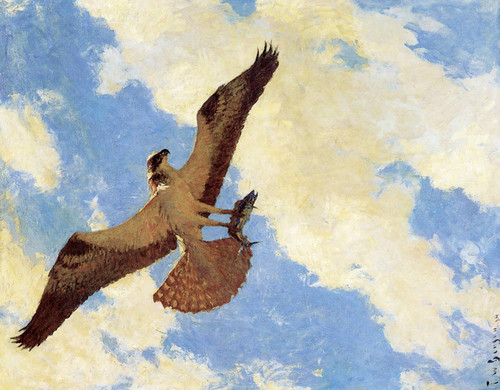 Art Prints of Osprey and Fish by Frank Weston Benson