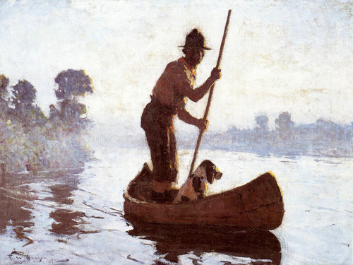 Art Prints of Indian Guide by Frank Weston Benson