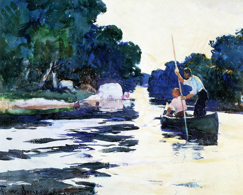Art Prints of Poling the Canoe by Frank Weston Benson