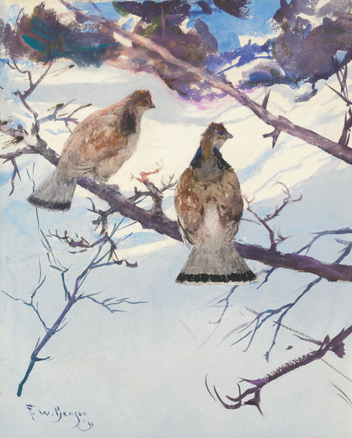Art Prints of Grouse and Snow by Frank Weston Benson