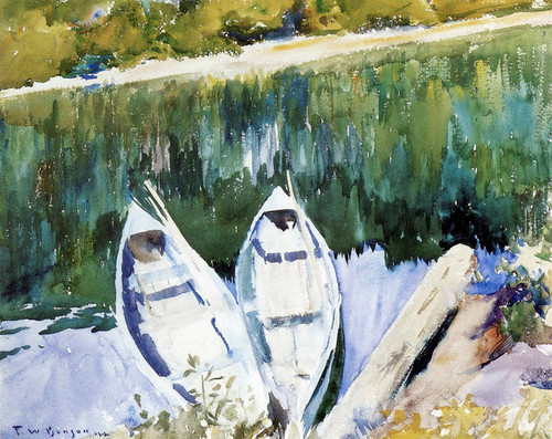 Art Prints of Gaspe Boats by Frank Weston Benson