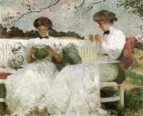 Art Prints of Elisabeth and Anna, Afternoon in September by Frank Weston Benson