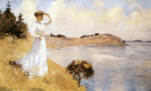 Art Prints of Eleanor on the Hilltop by Frank Weston Benson