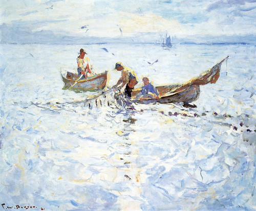 Art Prints of Dory Fishermen by Frank Weston Benson
