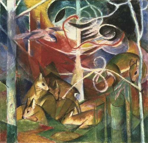 Art Prints of Deer in the Forest I by Franz Marc