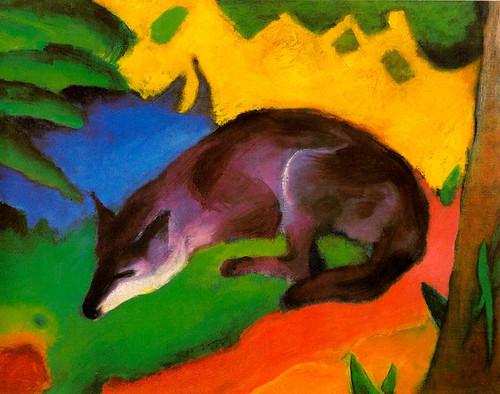 Art Prints of Blue-Black Fox by Franz Marc