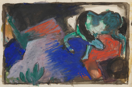 Art Prints of Green Horse in Landscape by Franz Marc