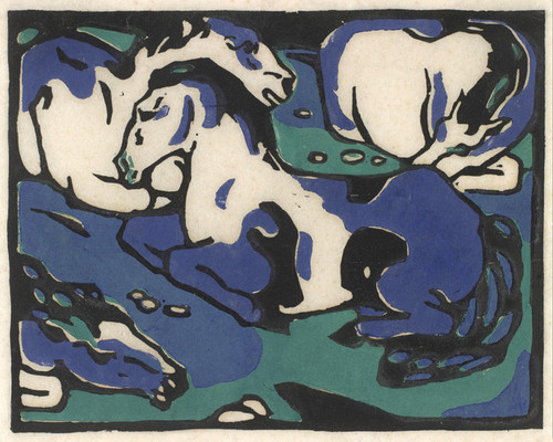 Art Prints of Horses Resting by Franz Marc