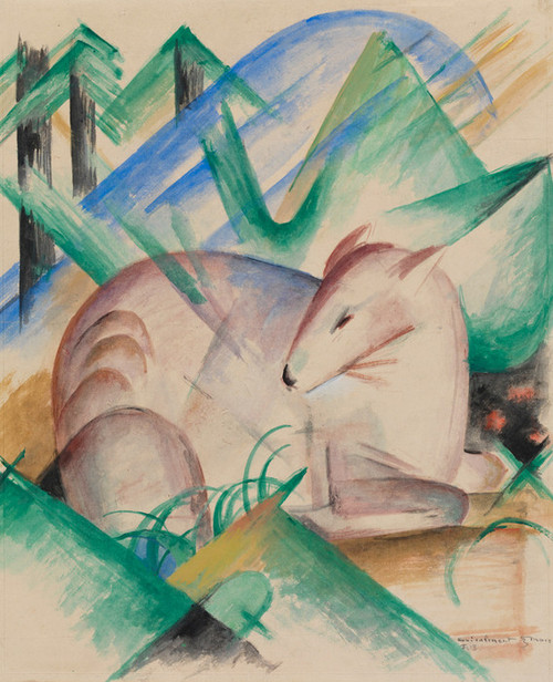 Art Prints of Red Deer by Franz Marc