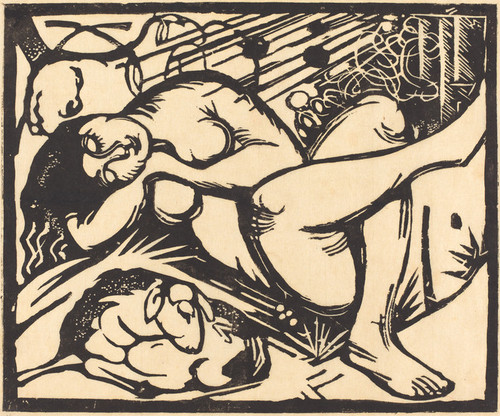 Art Prints of Sleeping Shepherdess by Franz Marc