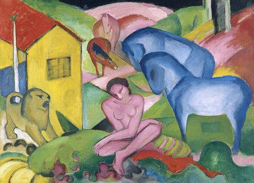 Art Prints of The Dream by Franz Marc