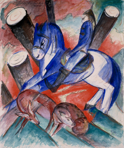 Art Prints of St. Julian, the Hospitaler by Franz Marc