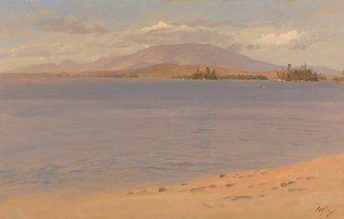 Art Prints of Mount Katahdin from lake Millinocket, Maine by Frederic Edwin Church