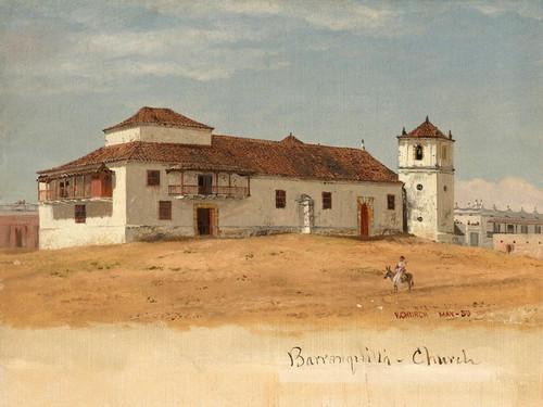 Art Prints of Church in Baranquilla, Columbia by Frederic Edwin Church