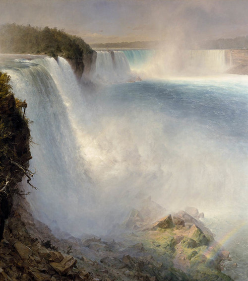 Art Prints of Niagara Falls from the American Side by Frederic Edwin Church