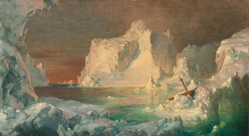 Art Prints of Final study for the Icebergs by Frederic Edwin Church