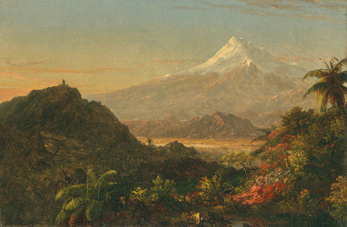Art Prints of South American Landscape, Study for Chimborazo by Frederic Edwin Church