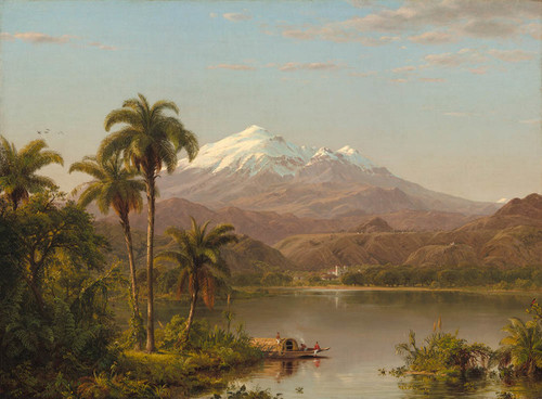 Art Prints of Tamaca Palms 1854 by Frederic Edwin Church
