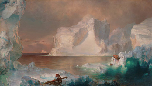 Art Prints of The Iceburgs by Frederic Edwin Church