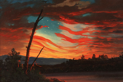 Art Prints of Our Banner in the Sky by Frederic Edwin Church
