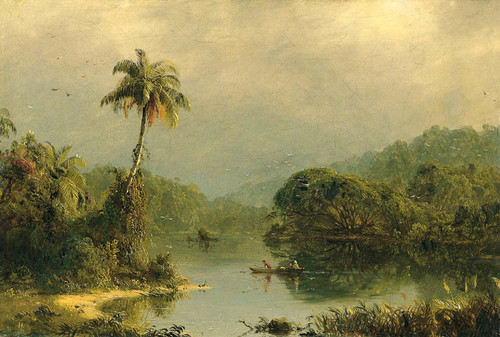 Art Prints of Tropical Landscape by Frederic Edwin Church