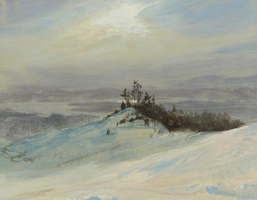 Art Prints of Winter on the Hudson near Catskill New York by Frederic Edwin Church