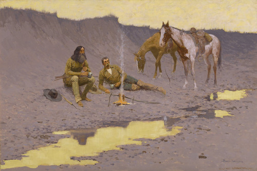 Art Prints of A New Year on the Cimarron by Frederic Remington