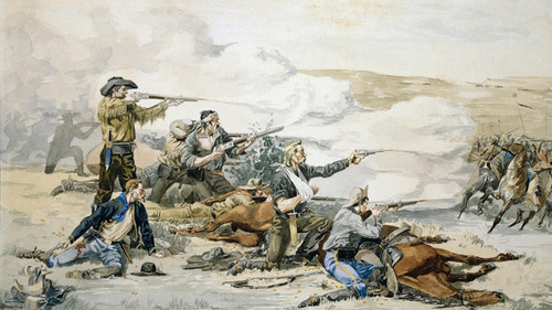 Art Prints of Battle of Beechers Island by Frederic Remington