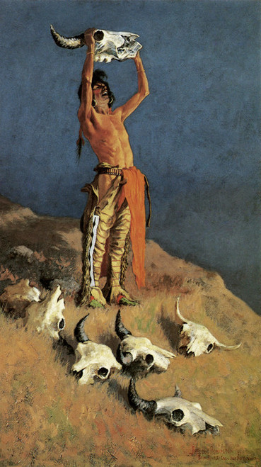 Art Prints of Conjuring Back the Buffalo by Frederic Remington