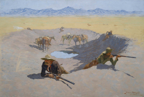 Art Prints of Fight for the Waterhole by Frederic Remington