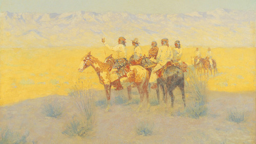 Art Prints of Evening in the Desert Navajos by Frederic Remington